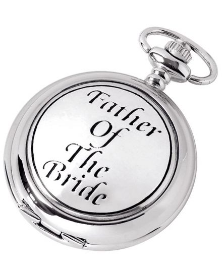 'Father of the Bride' Quartz Pocket Watch with Chain